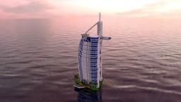 Burj Al Arab Dubai Minecraft Map & Project