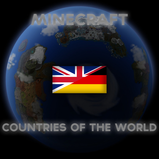 Minecraft Countries of The World Logo Germany and UK friendship.