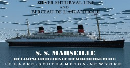 French ocean liner-SS Marseille (II) Minecraft Map & Project