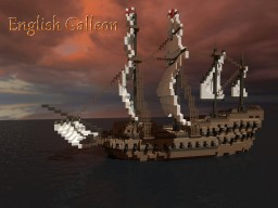 English Galleon Ship Minecraft Map & Project