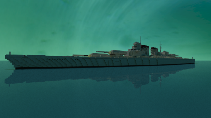 German - H44 Cl Super - Battleship | DKM Balistikov. Minecraft ...