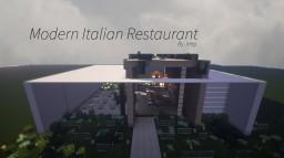 Beautiful Modern Italian Restaurant Minecraft Map & Project