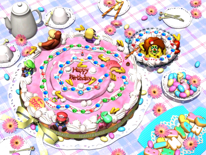 Peachs Birthday cake - Original