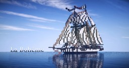 ~La Bohême~ French 6 gun Schooner Minecraft Map & Project