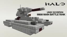 Halo M808 Scorpion Main Battle Tank UNSC Minecraft Map & Project