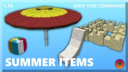 SUMMER DECORATIONS in only one command! Minecraft Map & Project