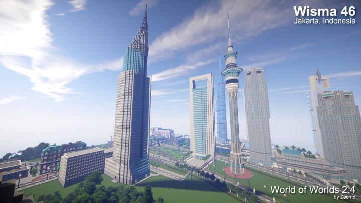 Wisma 46 Jakarta Indonesia Minecraft Project