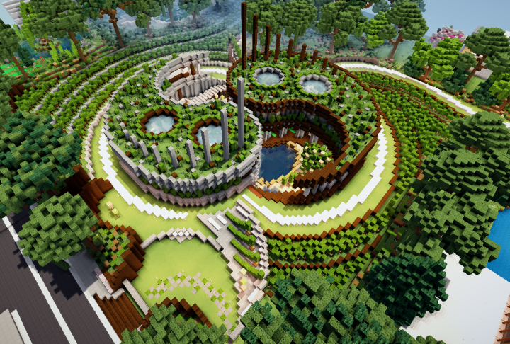 Yin and yang house modern project Minecraft Project