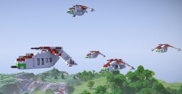 Republic Gunship LAAT [Star Wars] Minecraft Map & Project