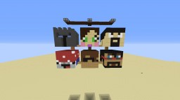 Burning YouTuber Heads Minecraft Map & Project