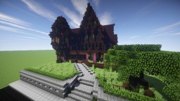 American Queen Anne style Mansion Minecraft Map & Project
