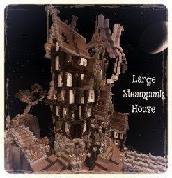 Large Steampunk House With A Bridge Minecraft Map & Project