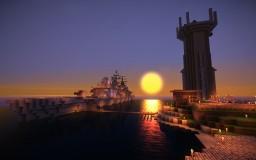 """Warship Zhaam"" (Sheffield Class Destroyer) Minecraft Map & Project"