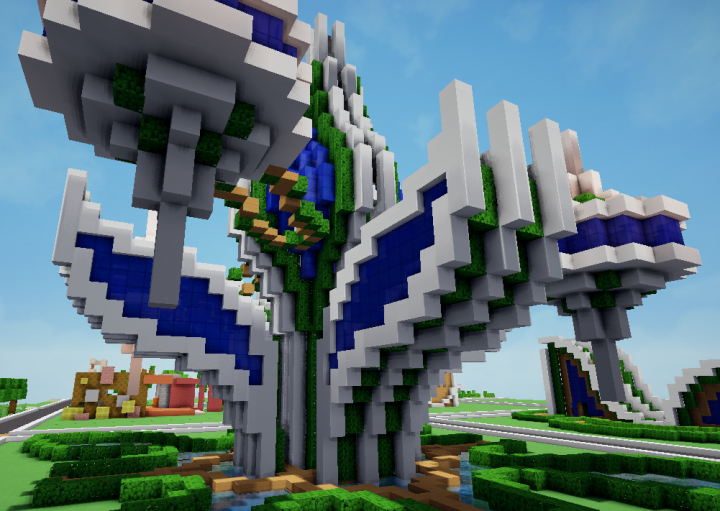 A futuristic plant house Minecraft Project