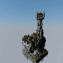 mystic medieval fire monument [ chunk challenge: Solo Build Contest] Minecraft Map & Project