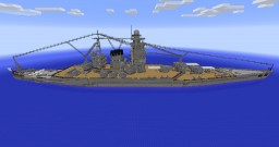 IJN Battleship Yamato Design A-140A Minecraft Map & Project