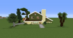 70's Ranch House Based Off Vintage House Plan Minecraft Map & Project