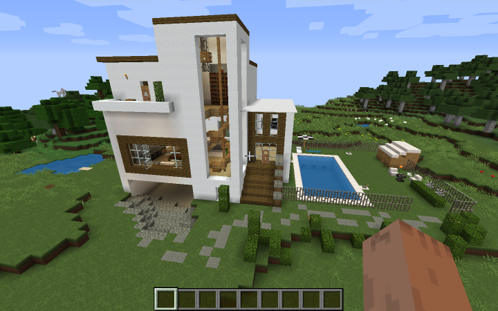 Fourth Day A Modern House Minecraft Project