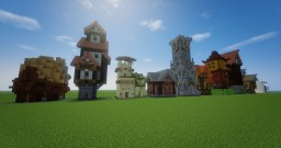 10 Tiny Homes Minecraft Map & Project