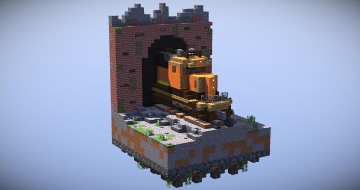 Minecraft Lego House Light At Last - Bnsf T...