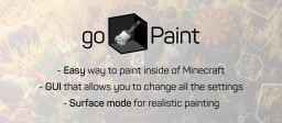 [Spigot] goPaint - The ultimate painting tool for Minecraft Minecraft Mod