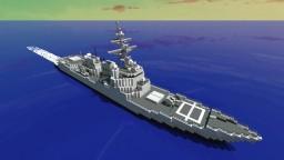 Arleigh Burke Flight IIA Destroyer DDG Minecraft Map & Project