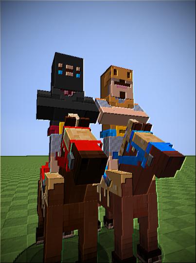 The Princes ride into combat!