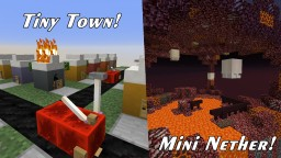 Tiny Town and Mini Nether! Minecraft Map & Project
