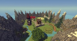 KitPvP Map | Flat, Pines, Central Spawn medieval tower | World & .Schematic (SELL) Minecraft Map & Project