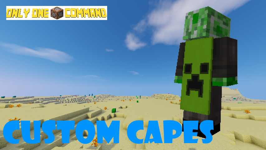 50 Subscribers Special | Custom Capes - Only One Command Minecraft
