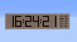 Digital Clock (24hour) - works in 1.10 - ultra compact Minecraft Project