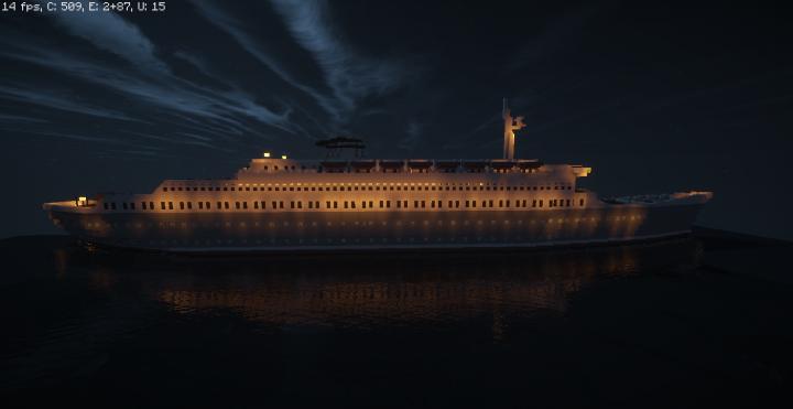 SS Sunshine Star at night