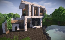 𝔄𝔯𝔠𝔥𝔞𝔢𝔞 - Modern House #WeAreConquest Minecraft Map & Project