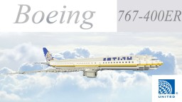 Boeing 767-400ER United Airlines + Ground Services Minecraft Map & Project
