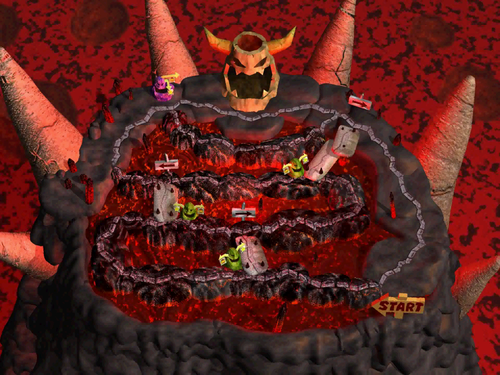 Bowser Magma Mountain - Original