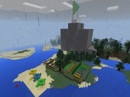 Me and my friend's castle! Minecraft
