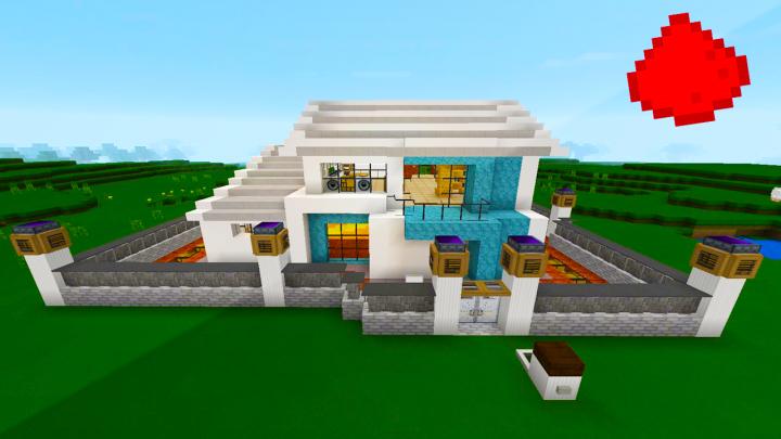 Overdale an mcpe modern redstone house minecraft blog for Minecraft modernes redstone haus