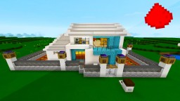 """Overdale"" An MCPE Modern Redstone House Minecraft Blog Post"