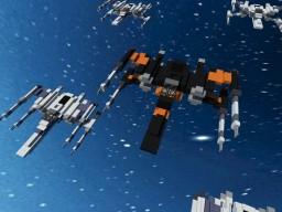 A T-70 X-wing starfighter STAR WARS Minecraft Project