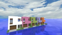 Small Modern Townhouses - Colorway Minecraft Map & Project