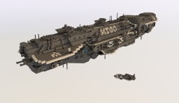 Space Battleship Odin (1:4) Minecraft Map & Project