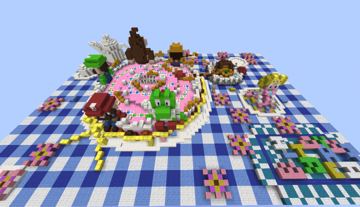 Peachs Birthday cake - MC Version