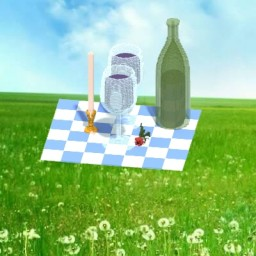 A picnic with wine. Minecraft Map & Project