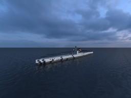 German U-boat U-1041 Class VIID Minecraft Map & Project