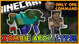 Zombie Apocalypse in One Command | New Zombies, Guns, and More! Minecraft Map & Project