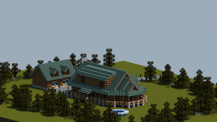 Quick log home build 2 minecraft project - Quick built homes ...