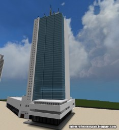 Minecraft replica of the Tower of Cali, Cali, Colombia.