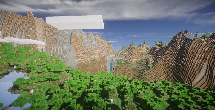 Heres our custom terrain generation.
