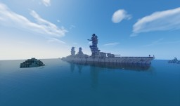 IJN Battleship Fuso 1:1 Detailed, With Interior Minecraft