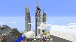 The Address Downtown, Dubai Mall and Boulevard Minecraft Project